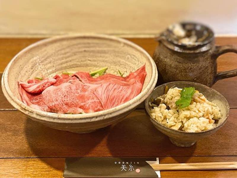 Udonzin 美糸 料理